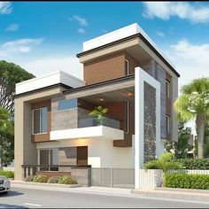 Modern House Exterior is part of Modern house exterior - Modern House Exterior Modern House Exterior When you choose modern house plans as the basis for the design of your home, you veer off from the overt use of traditional styles that seem to be Read House Front Design, Modern House Design, Contemporary Design, Dream House Plans, Modern House Plans, Beautiful Modern Homes, House Elevation, Front Elevation, Facade House