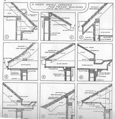 Roof Cornice Return & For This Article We Stretched The Length Of The Frieze To The Maximum Allowable Dimension So That The Raking Frieze Would Resolve Into The Eave Return Roof . Detail Architecture, Exposed Rafters, Beams, Roof Trusses, Roof Detail, Roof Structure, Roof Design, Cabin Plans, House In The Woods