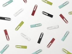 Nendo USB Memory Sticks: Each is a 4GB  memory stick and can be attached to documents, business cards etc. via jpdesign.org #Memory_Stick #Nendo