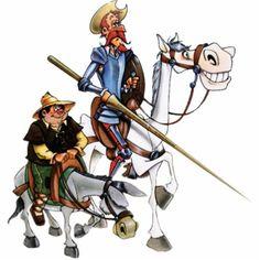 Don Quixote and Sancho Panza Ap Spanish, Spanish Culture, Learn Spanish, Spanish Online, Spanish Lesson Plans, Spanish Lessons, Spanish Teacher, Spanish Classroom, Man Of La Mancha