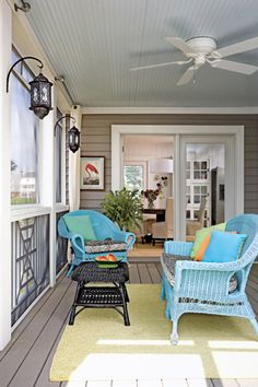 side porch, cottag journal, cottag color, cottage colors, welcom porch, beach, light, screened porches