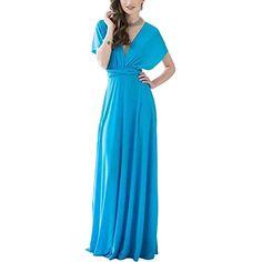 1a6917f3a9577 Lover-Beauty Vestido Corto Mujer Talla Grande Moda Bolsillo Top Falda Playa Verano  Manga Corta Escote V Floral Estampada Sulet…