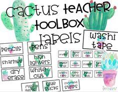 Teacher Toolbox Labels: Cactus Theme