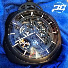 #Panerai PAM446 Ceramic Tourbillon Pocket #watch.