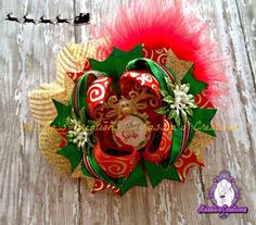 New #christmas bow from #kassiascreations