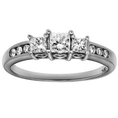 14K White or Yellow Diamond Past, Present and Future Anniversary Ring (1.00 cttw, H-I Color, I1-I2 Clarity) - List price: $4,190.00 Price: $1,505.00 Saving: $2,685.00 (64%)
