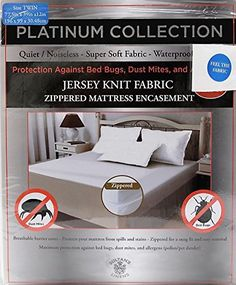 Product Review For Fabric Mattress Encat Maximum Bed Bug Protection Waterproof Backing Super Soft Jersey Knit Noiseless Breathable