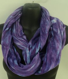 Lilac tie dye infinity scarf in by qualicumclothworks on Etsy