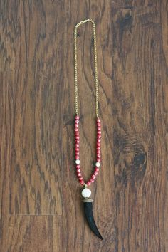 White Druzy Pendant Necklace with Tribal by DesignsbyDevraJewels