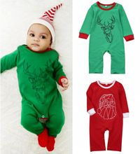 Christmas Infant Baby Boy Girl Long Sleeve Romper Jumspuit Outfit Clothes 0-18M(China (Mainland))