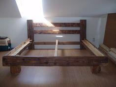 masive wood bed frame