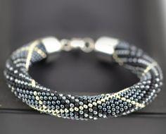 Metallic Hematite Bracelet Classic Bead Crochet от LeeMarina