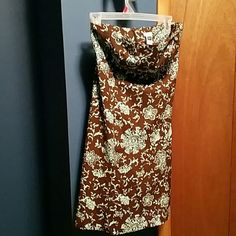 Gap mint green and brown strapless mini dress In excellent new condition. Super cute. GAP Dresses Mini
