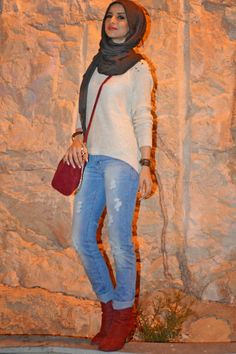 hijab jeans and boots - Google Search