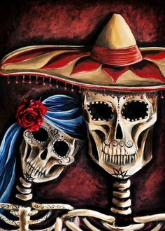 Mexican Sugar Skull Painting by Renee Keith | The Day Of The Dead In 17 Artistic Images