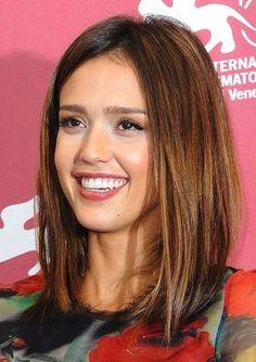 Cortes de pelo media melena: fotos de los looks - Media melena Jessica Alba