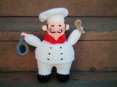 Little Chef Amigurumi Pattern (FREE) - http://pinterest.com/Amigurumipins