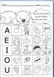 JARDIM COLORIDO DA TIA SUH: Atividades com as vogais para imprimir