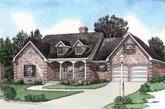 Southern Style House Plan - 3 Beds 2 Baths 1738 Sq/Ft Plan #16-273 Exterior - Front Elevation - Houseplans.com