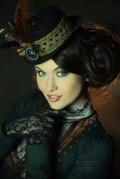 Steampunk style: Learn more about #steampunk hairstyles at #emersonsalon.