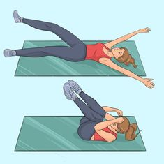 6 Simple Exercises to Help You Have a Slim Waist - Free Restaurant Recipes Windshield Wiper Exercise, Ariana Grande Body, Slim Waist Workout, Local Gym, Donkey Kicks, Going To The Gym, Easy Workouts, Excercise, Flat Abs