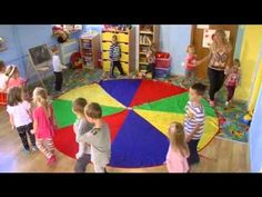 """Zabawy z chustą animacyjną w Przedszkolu """"Orzełki"""" - YouTube Music Activities, Music Games, Music For Kids, Music Lessons, Preschool, Paper Crafts, Classroom, Kids Rugs, Education"""