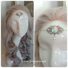 Tiara hada del arcoiris  plata gema cristal Swarovski iridiscente de…