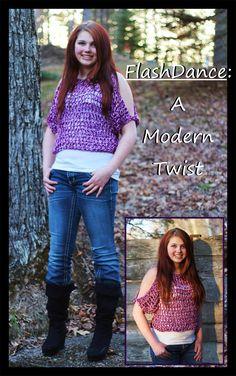 Crochet Supernova: FlashDance: A Modern Twist ~ FREE SWEATER PATTERN
