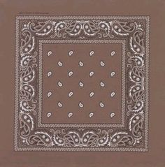 Private Island Party  - Brown Paisley Bandanna 1924, $1.00 - $1.99    Looking for an earthy tone to try and add to your look or perhaps add that missing something to your rugged cowboy costume? Our brown paisley bandana is the perfect item for this. They measure approximately 21 inches square, and are available in many great colors, including black, lavender, light blue, navy blue, royal blue, orange, purple, outlaw red, light cowgirl pink, hot pink, tan, white, yellow, and brown.