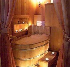 Simple, rustic cabin bathroom