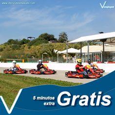 Cinco minutos extra gratis en tus carreras de karts. Consulta la oferta completa en www.ofertasdelempleado.com
