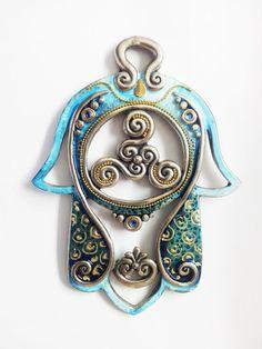 HAMSA Craft Judaica Swarovski crystal Decor by IrinaSmilansky, $42.99