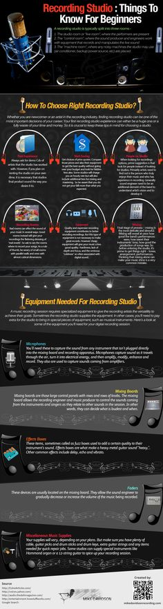 Make quality recordings of songs. Recording Studio : Things To Know For Beginners