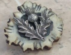 Antique Thistle Horn Scottish Brooch | antique jewellery | Jewels & Finery UK