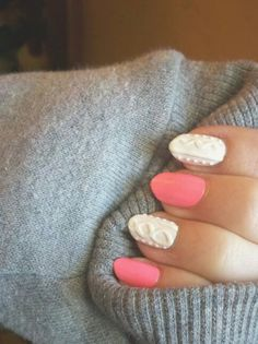 Cable knit nails by Megan Bailey <3