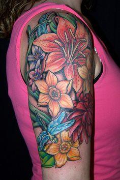 "inspiration! ""floral tattoo"""