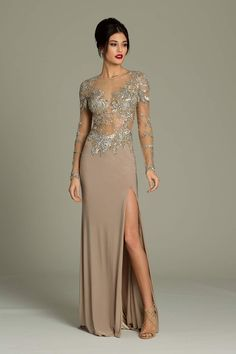 Jovani Long Sleeve Gown. Another sexy gown for the mature woman!