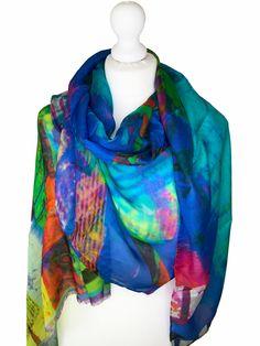 Irish Design, Scarf Design, Cashmere Scarf, Keep Warm, Wearable Art, Sustainable Fashion, Vibrant Colors, Silk, Luxury