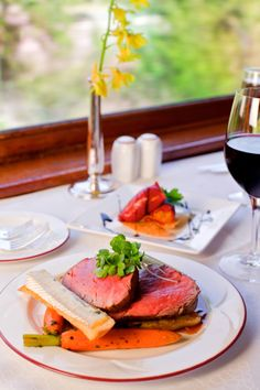 Would you care for our signature dish for lunch today? Roasted beef tenderloin   The Napa Valley Wine Train