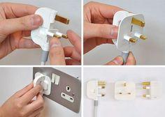 folding power cord design