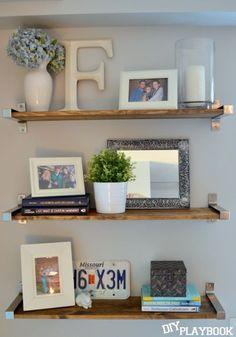 Ikea Shelves turned rustic in a few simple steps!