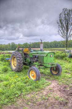 John Deere Tractor by John-Paul Fillion - John Deere Tractor Photograph - John Deere Tractor Fine Art Prints and Posters for Sale Antique Tractors, Vintage Tractors, Vintage Farm, John Deere Equipment, Old Farm Equipment, Heavy Equipment, Old John Deere Tractors, Illinois, New Tractor