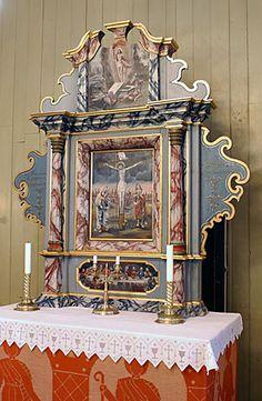 Altar in Lyngen church, Norway