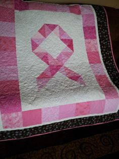 Breast Cancer Awareness Ribbon Quilt