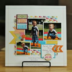 #papercraft #scrapbook #layout. Make Today Ridiculously Amazing...Slip and Slide