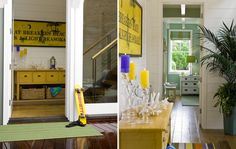 House of Turquoise: Viscusi Elson Interior Design Yellow Painted Furniture, Building A Cabin, Arrow Decor, House Of Turquoise, Huge Windows, Plantation Homes, Inspiration Wall, Room Accessories, Mellow Yellow