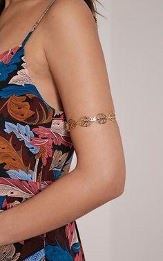 Aymi Gold Leaf Upper Arm Cuff Image 1