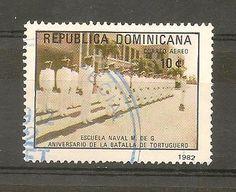 DOMINICAN REPUBLIC STAMP USED BATALLA DE TORTUGUERO