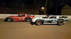 Racing track vintage coupes dirt
