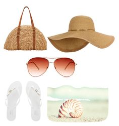 """beachy mode on"" by indreswarik on Polyvore featuring San Diego Hat Co., Melissa and Steve Madden"